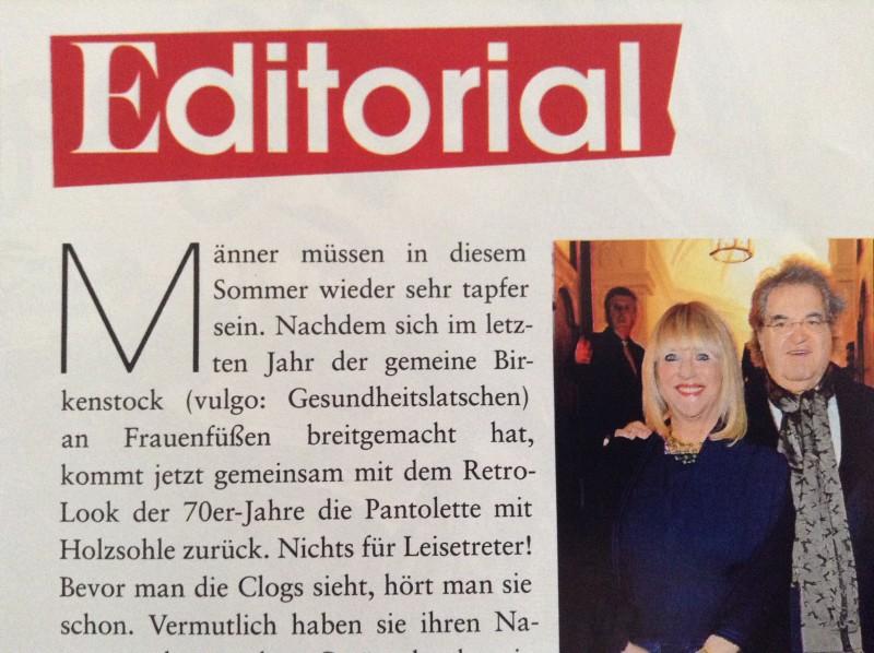 Patricia Riekel hat es schon geschafft ihren Mann (ebenfalls ehemaliger Qualitätsmedienchefredakteur) wieder gnädig zu stmmen.